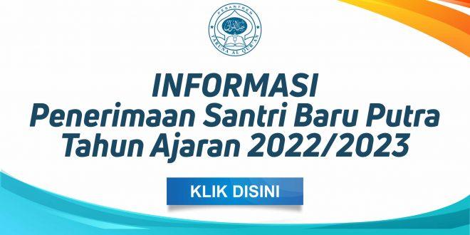 Penerimaan Santri Baru 2022-2023